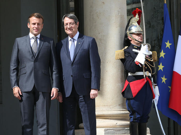 Macron expressed France's solidarity to Cyprus and Greece after meeting with Anastasiades in Paris