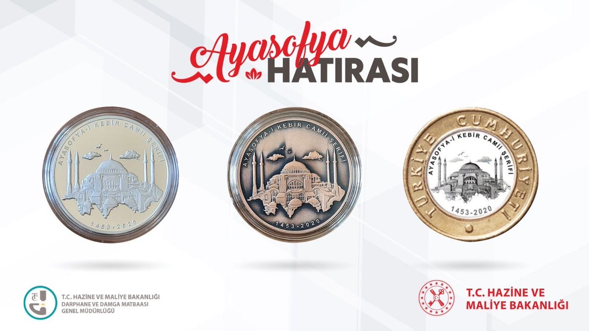 Turkey: Finance and Economy Ministry prints special coins for Hagia Sophia