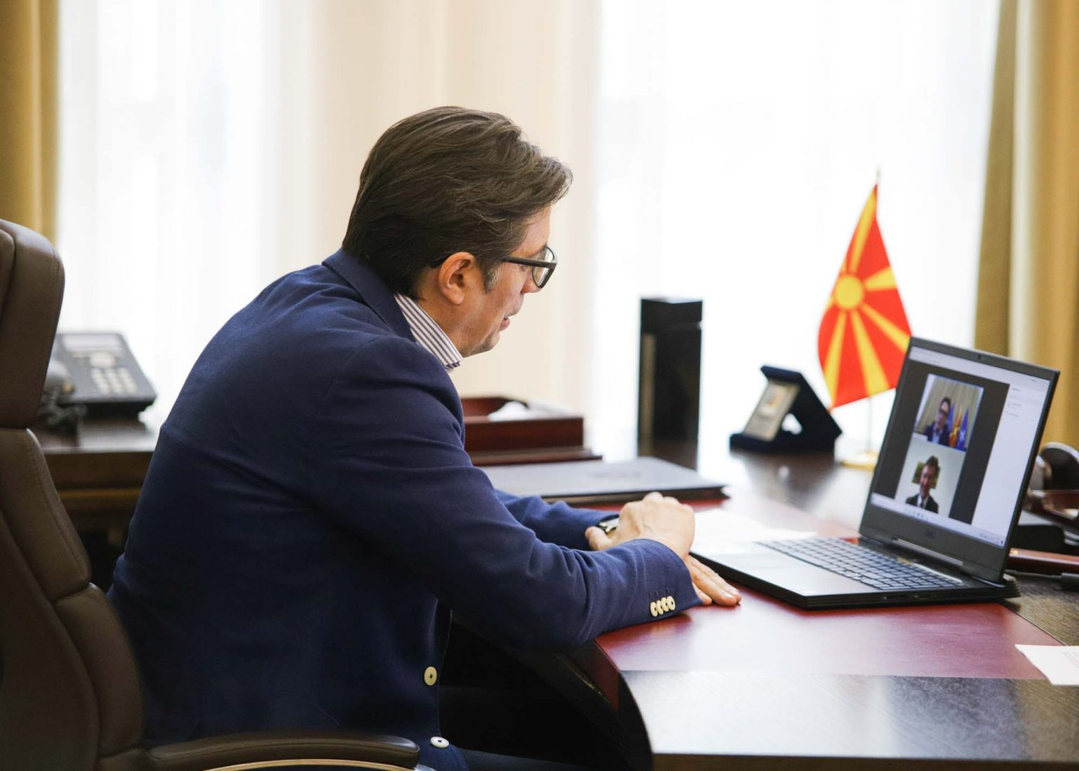 North Macedonia: Pendarovski contacts Lajcak