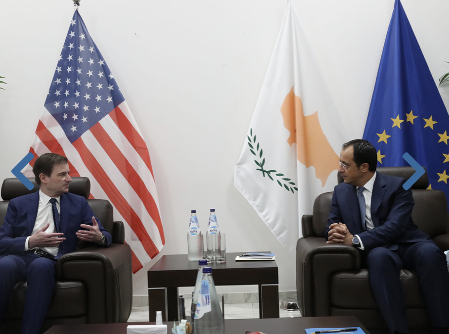 Cyprus: Christodoulides briefs Hale on the situation in the Eastern Mediterranean