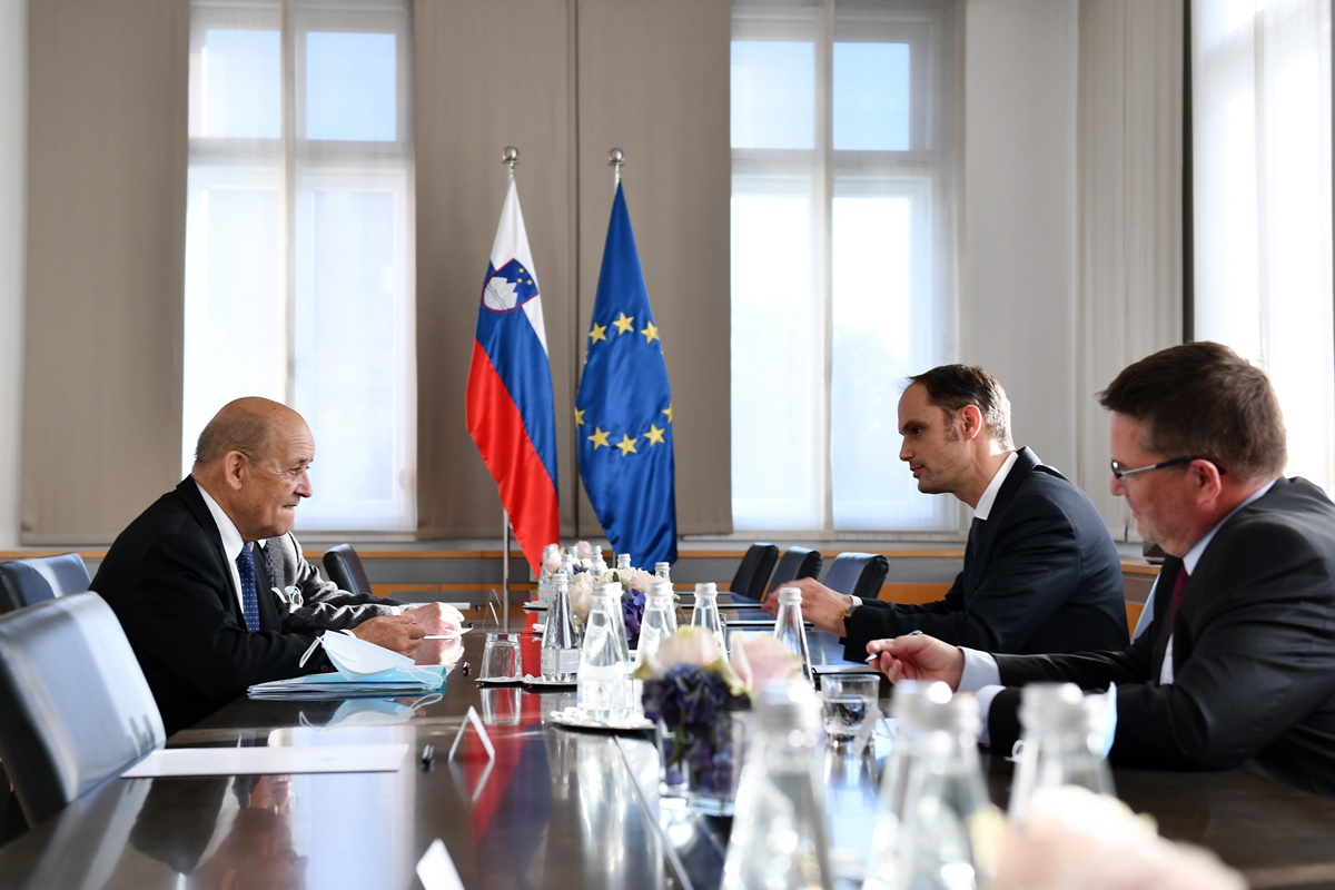 Slovenia: French FM on a two-day official visit in Ljubljana