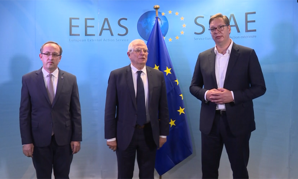 EU: Vučić, Hoti reiterate commitment to EU path and EU-facilitated Belgrade-Pristina dialogue before Brussels meeting