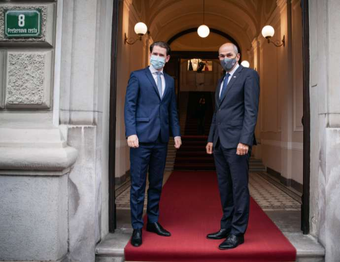 Slovenia: Kurz and Janša spoke of a joint battle against COVID-19 and illegal migrations