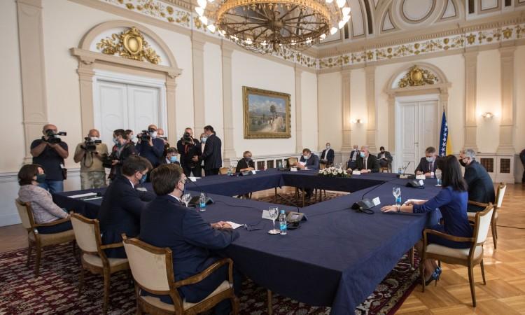 BiH: Palmer meets with BiH Presidency members