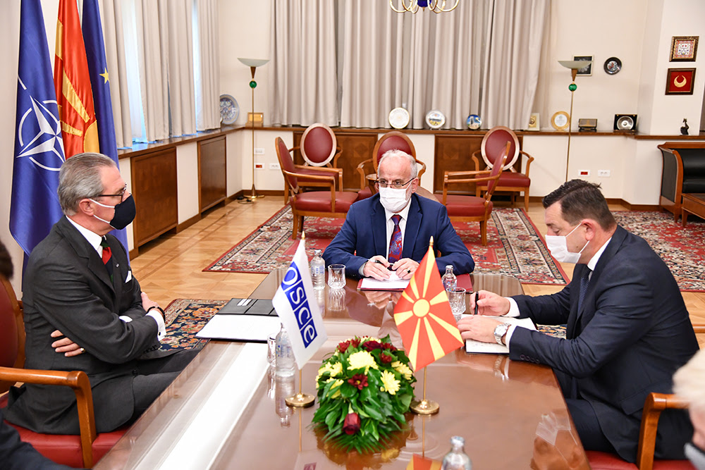 North Macedonia: Xhaferi meets with head of OSCE Mission