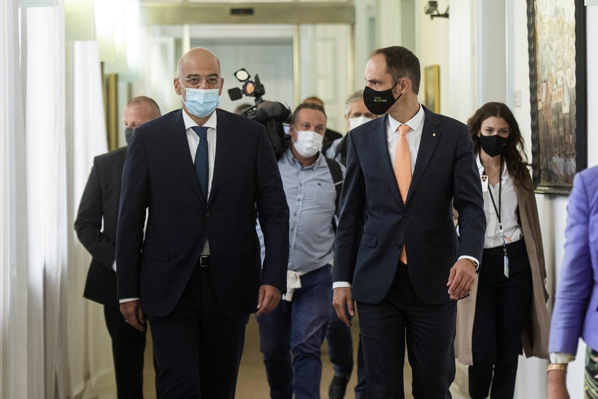 Slovenia: Greece FM Dendias on an official visit to Ljubljana