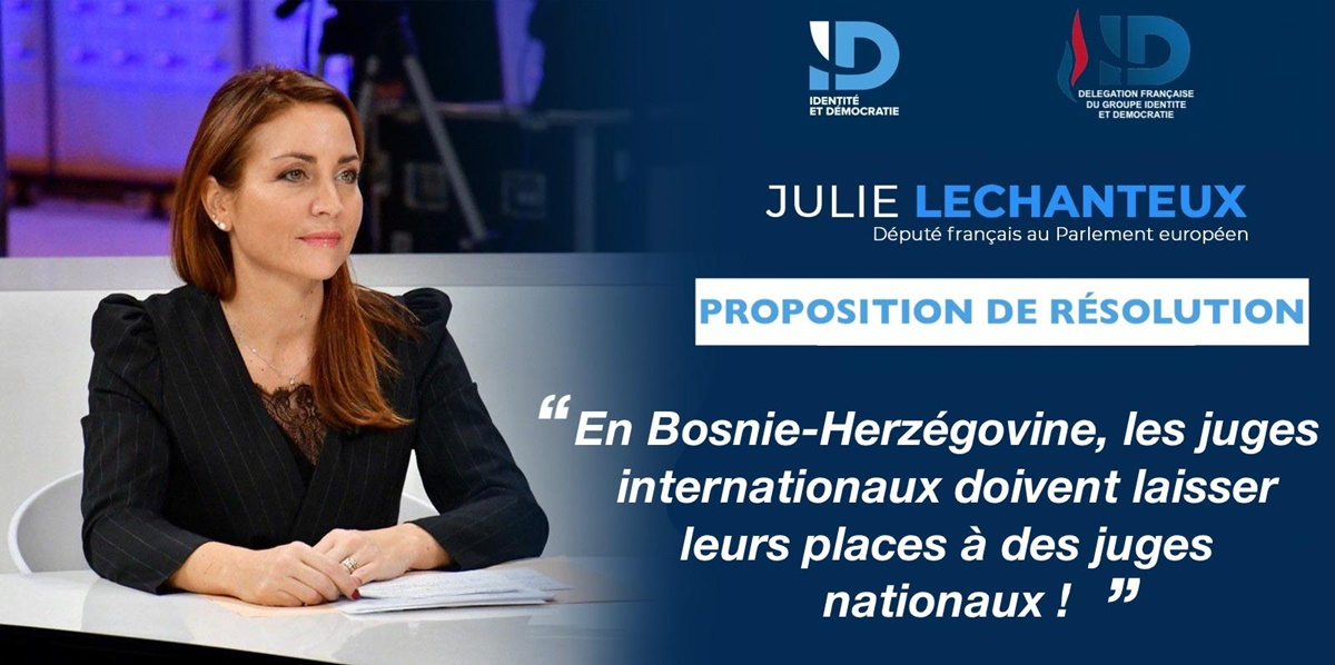 """In Bosnia and Herzegovina, international judges must give up their places to national judges!"", French MEP says"