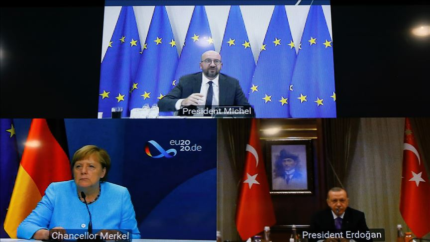 Michel-Merkel-Erdogan discuss EU-Turkey bilateral relations and resumption of Greek-Turkish exploratory talks