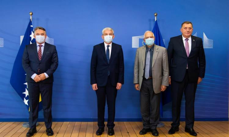 BiH: Presidency members meet with EU leaders in Brussels