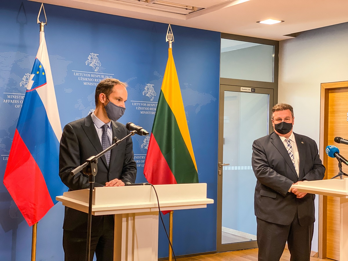Slovenia: Minister Logar meets with Linkevicius and Tihanovski