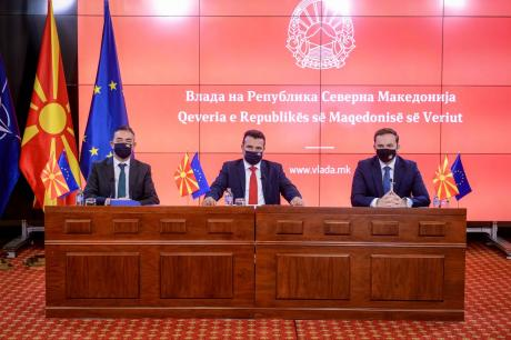 North Macedonia: Zaev, Dimitrov and Osmani attend online meeting with Borrell