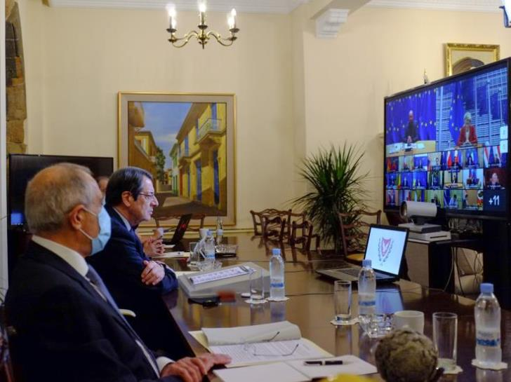 Cyprus: Anastasiades tackles pandemic, France attacks and Turkish provocations during EC intervention