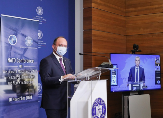 Romania: Aurescu and Stoltenberg co-chair NATO Annual Arms Control Conference