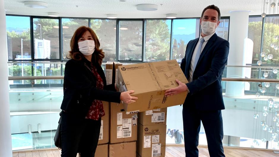 Montenegro: OSCE Mission donates computer hardware to Portal Analitika