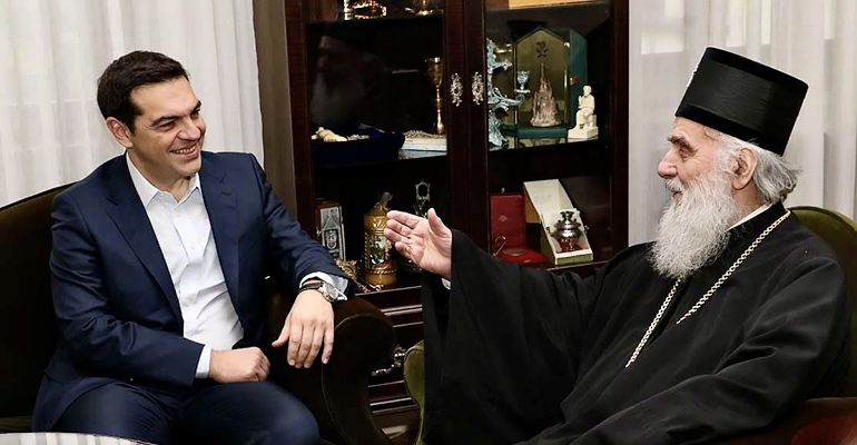 Greece: Tsipras sent letters of condolences to Vucic and Holy Synod of SOC for the repose of Patriarch Irinej