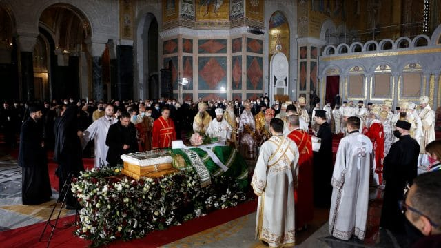 Serbia: Funeral service of Blessed Patriarch Irinej was held on Sunday