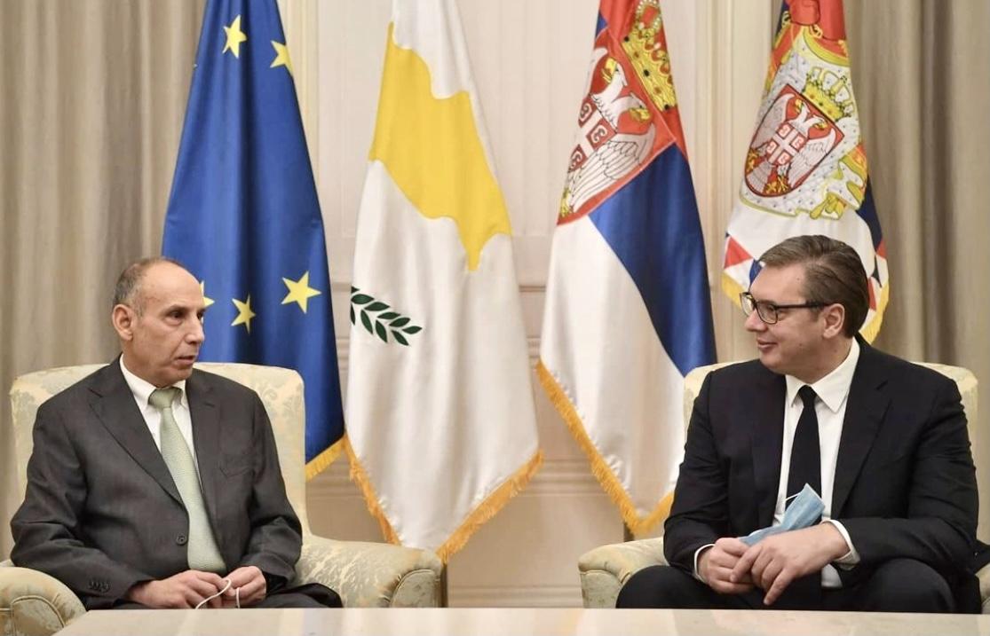 Serbia: Vučić receives Cypriot Ambassador on a farewell visit