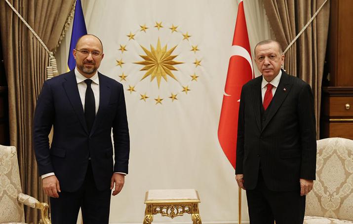 Turkey: Erdogan meets with Ukrainian Prime Minister