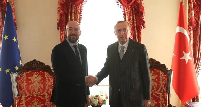Turkey: Erdogan, Michel exchange views on recent European Council over telephone