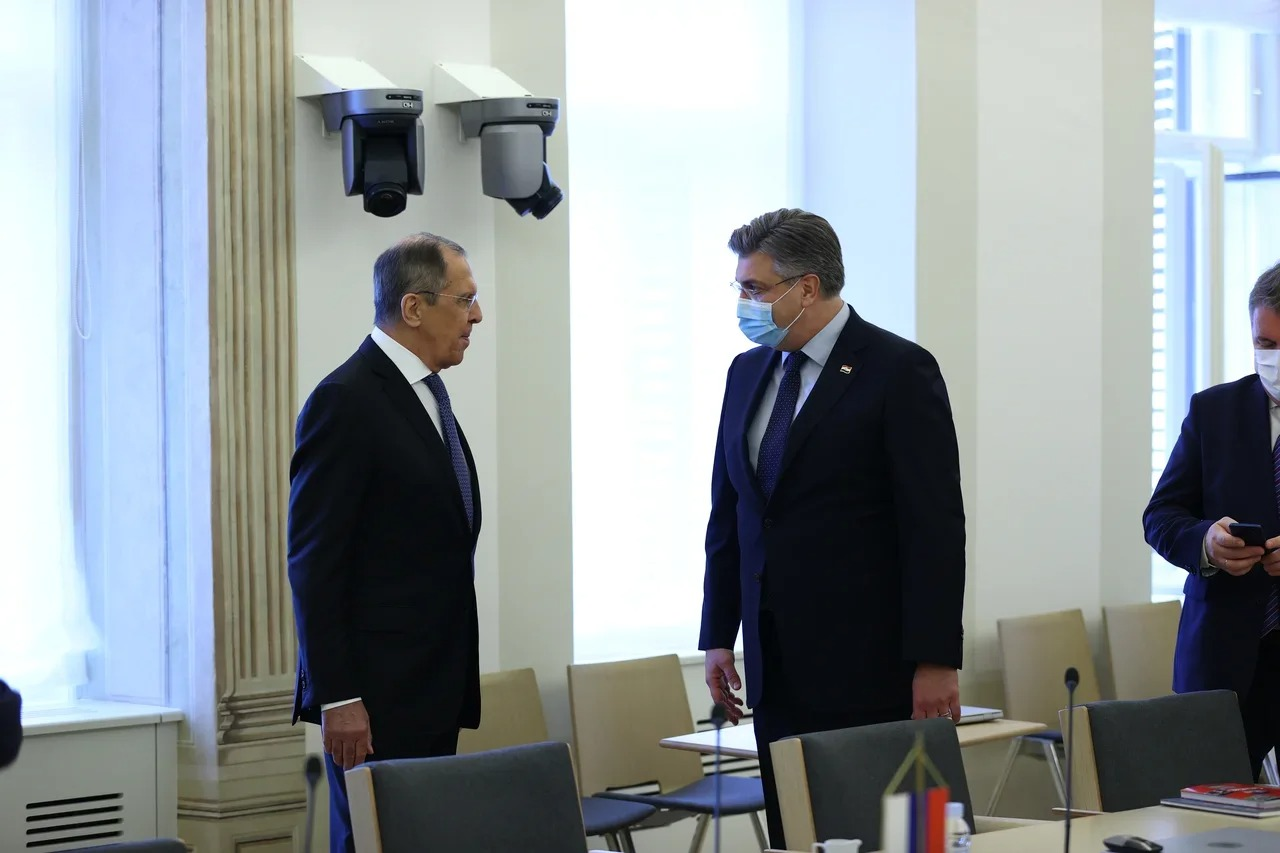 Lavrov on an official visit to Croatia; speaks out about Navalny case