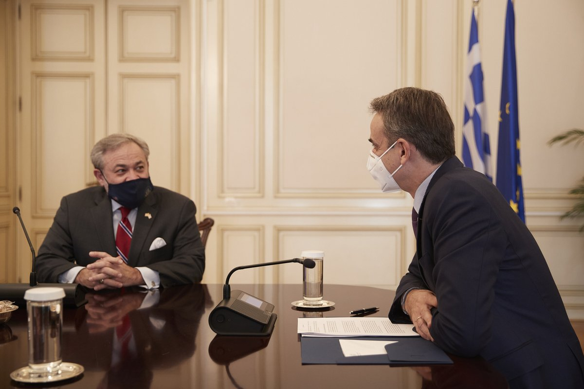 Greece: Mitsotakis meets with US Energy Minister