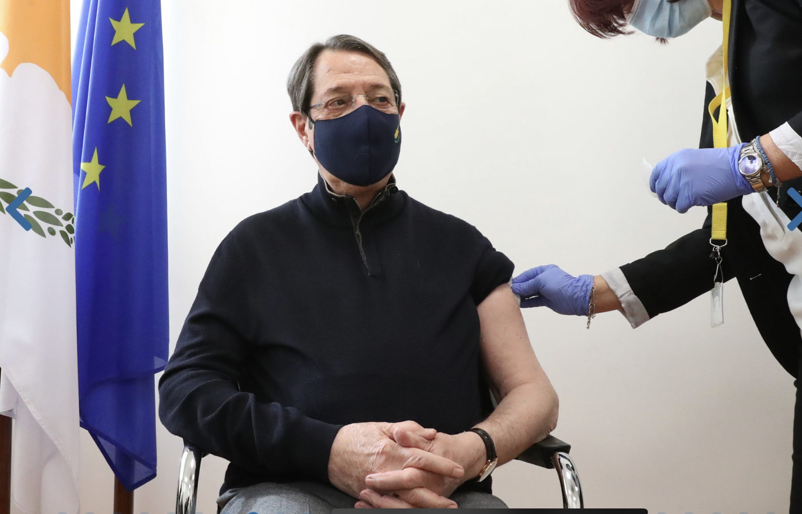 Cyprus: Anastasiades described the coronavirus vaccine as a gift of life