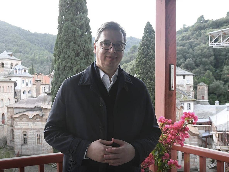 Serbia: Vucic spent Christmas on Mount Athos