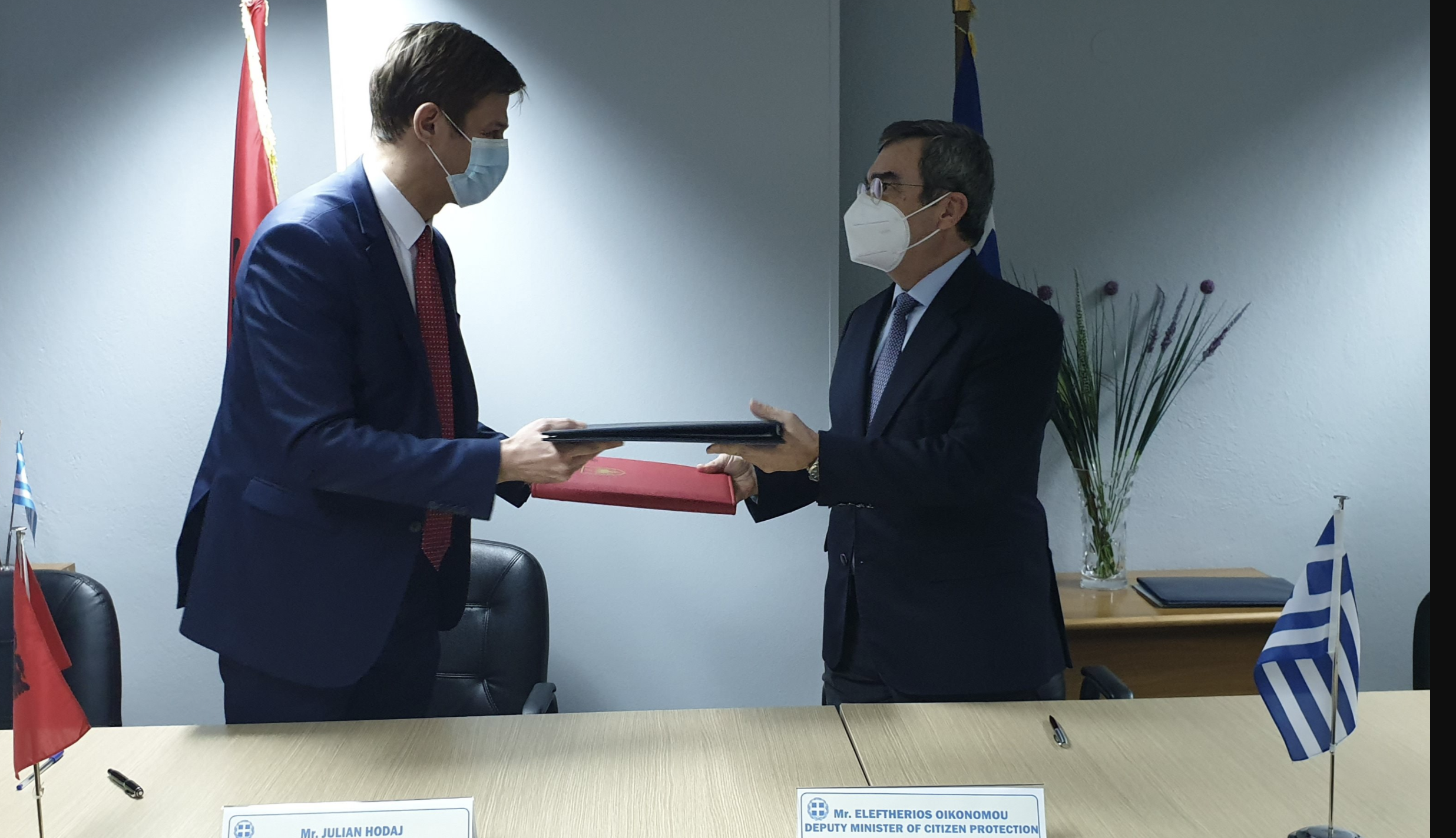 Greece and Albania sign Contact Center for Police and Customs Cooperation