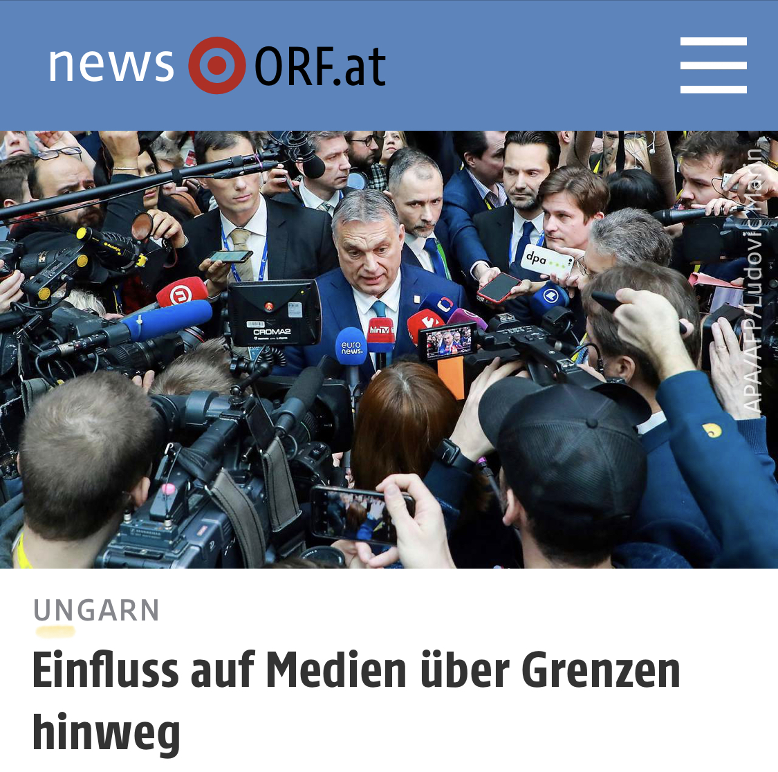 ORF: How Hungary influences media in Slovenia and North Macedonia