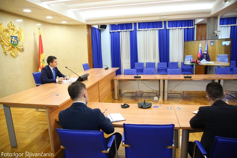 Bečić and Zorčič reaffirm good relations between Montenegro and Slovenia
