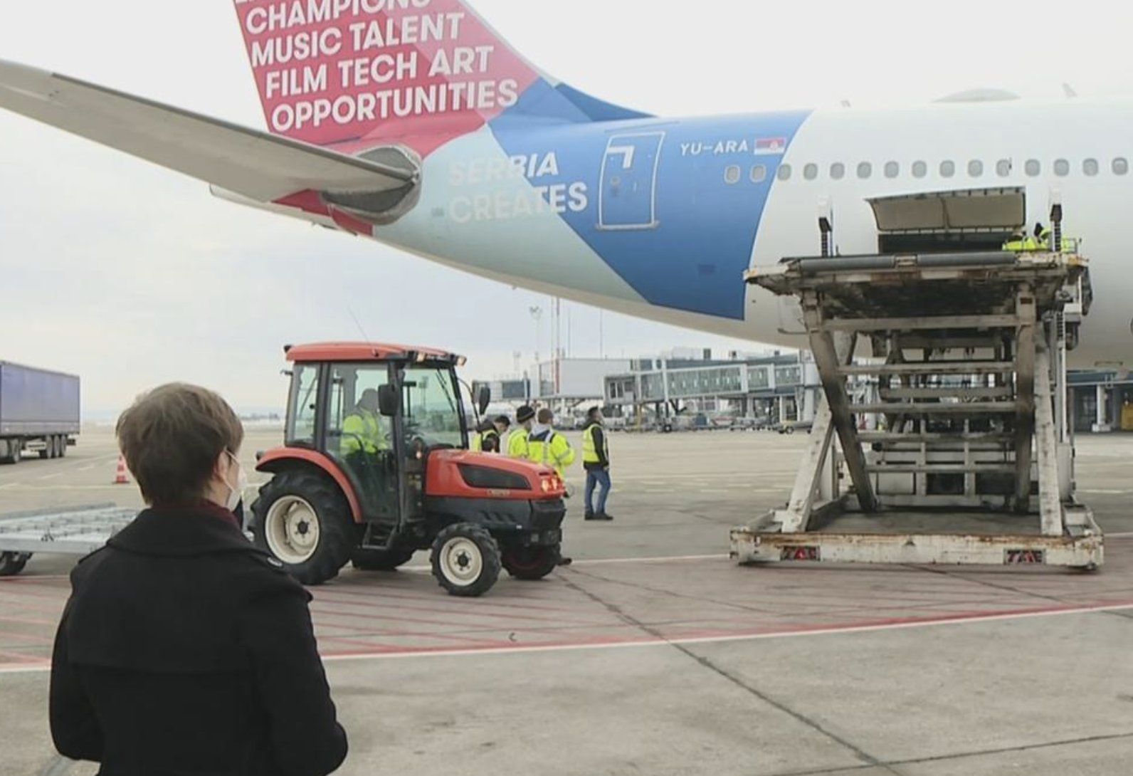 Serbia: Bahrain's donation of medical equipment to fight COVID-19 arrived today at Nikola Tesla airport