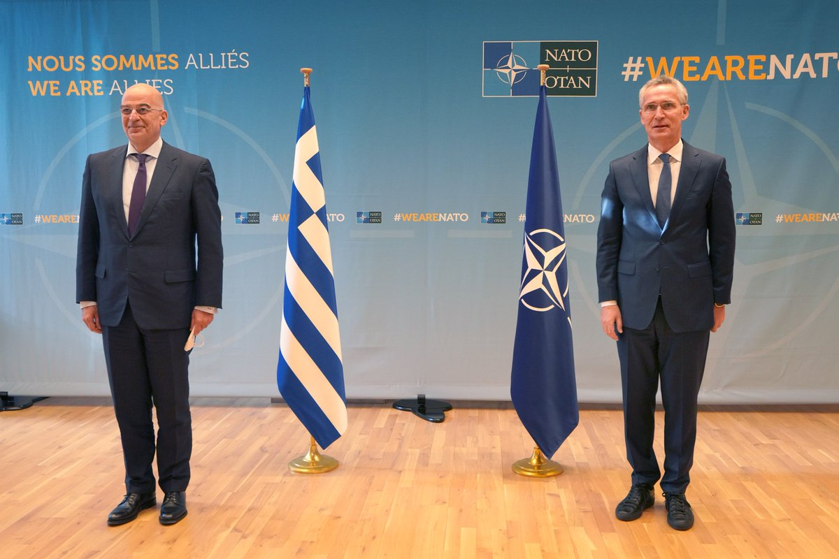 Greece: Dendias met with Wilmes and Stoltenberg in Brussels