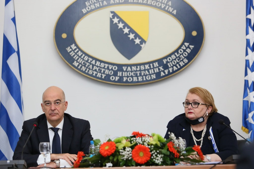 Greek Foreign Minister Nikos Dendias pays official visit to BiH