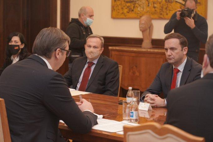 Foreign Minister of North Macedonia Bujar Osmani met with Vučić, Brnabic Selakovic and Dačić