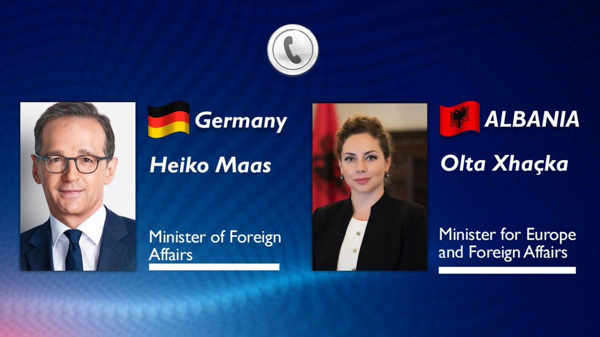 Albania: Xhaçka, Maas spoke over the phone