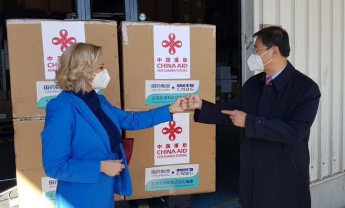 Montenegro receives 30,000 vaccine doses from China