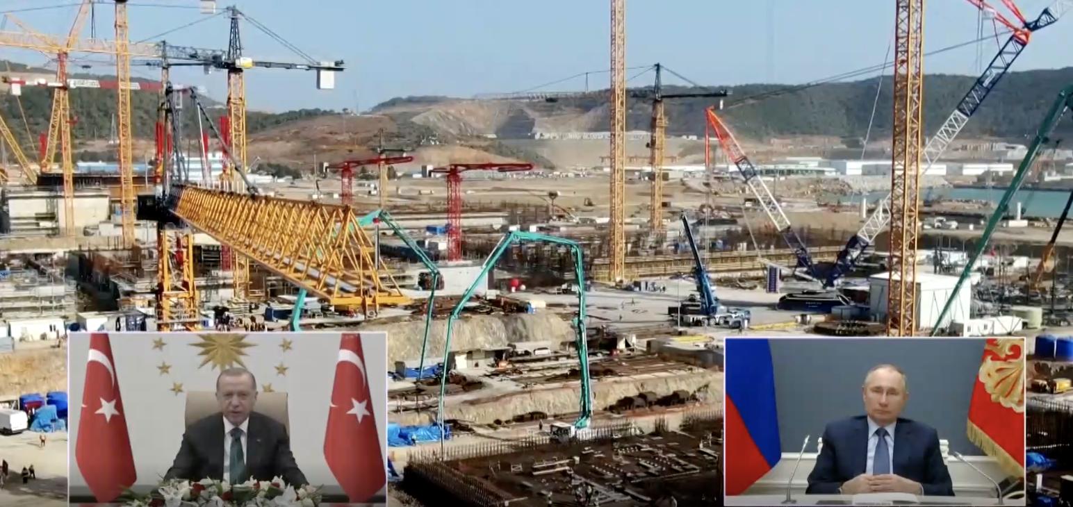 Turkey: Erdogan, Putin launch Akkuyu third power unit online