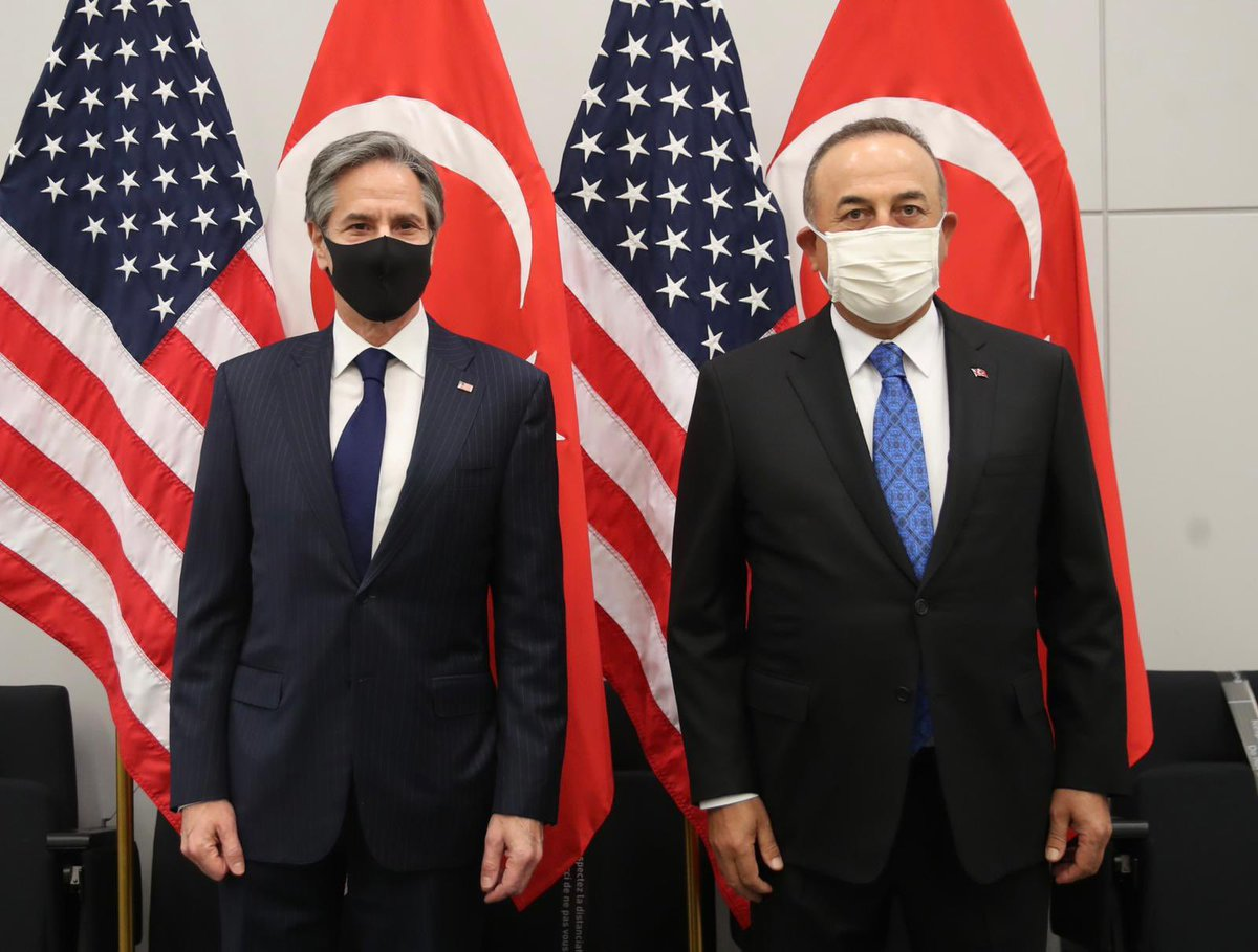 Turkey: Cavusoglu meets with Blinken at NATO Meeting of Foreign Ministers in Brussels