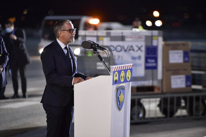Kosovo: The first shipment of AstraZeneca vaccines from the COVAX program arrived on Sunday