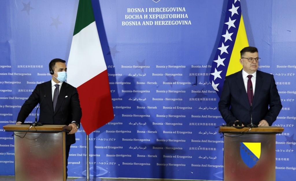Italy's Foreign Minister Luigi Di Maio visits BiH
