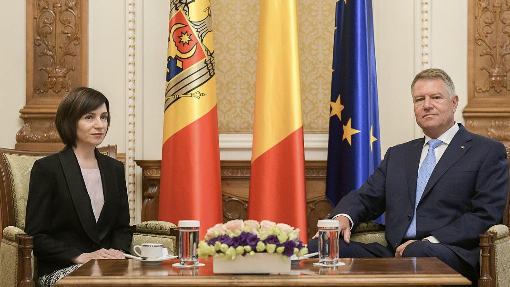 Romania remains Moldova's main partner, says Iohannis during meeting with President Sandu