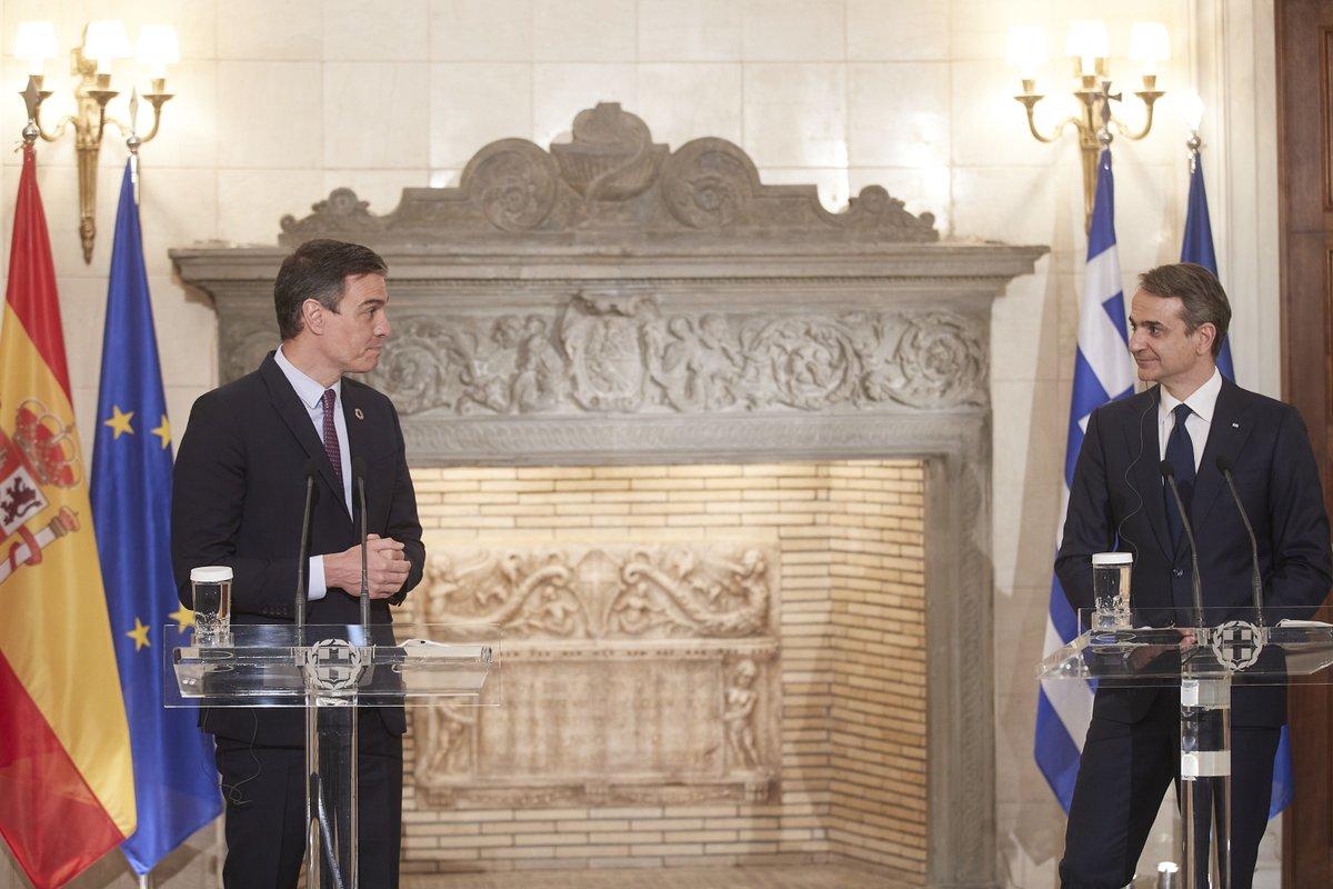 Greece: Mitsotakis meets Sanchez