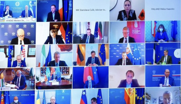A videoconference on the WB was co-organized by Dendias and Aurescu