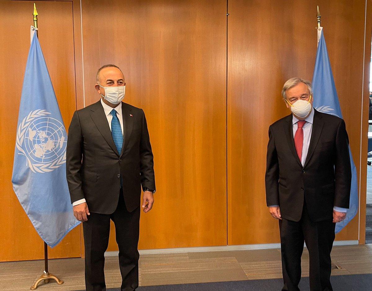 Turkey: Cavusoglu and Guterres discuss Palestine