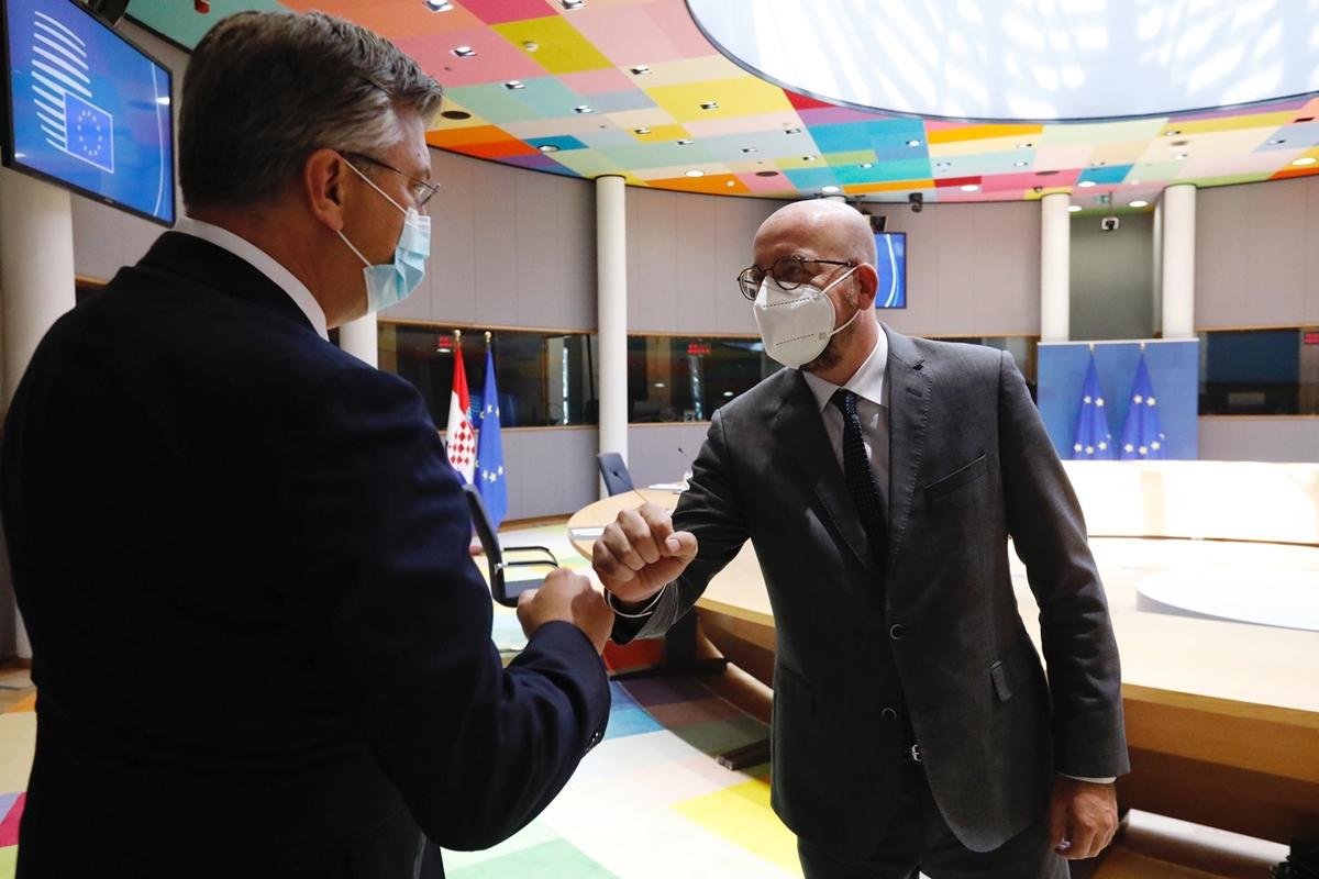 Croatia: Plenković in Brussels with Michel and Johansson