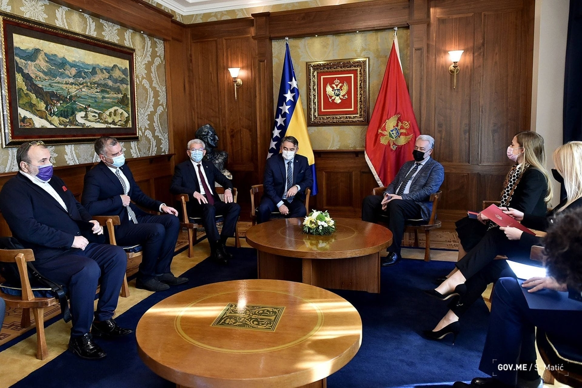 Two members of the BiH Presidency visited Montenegro