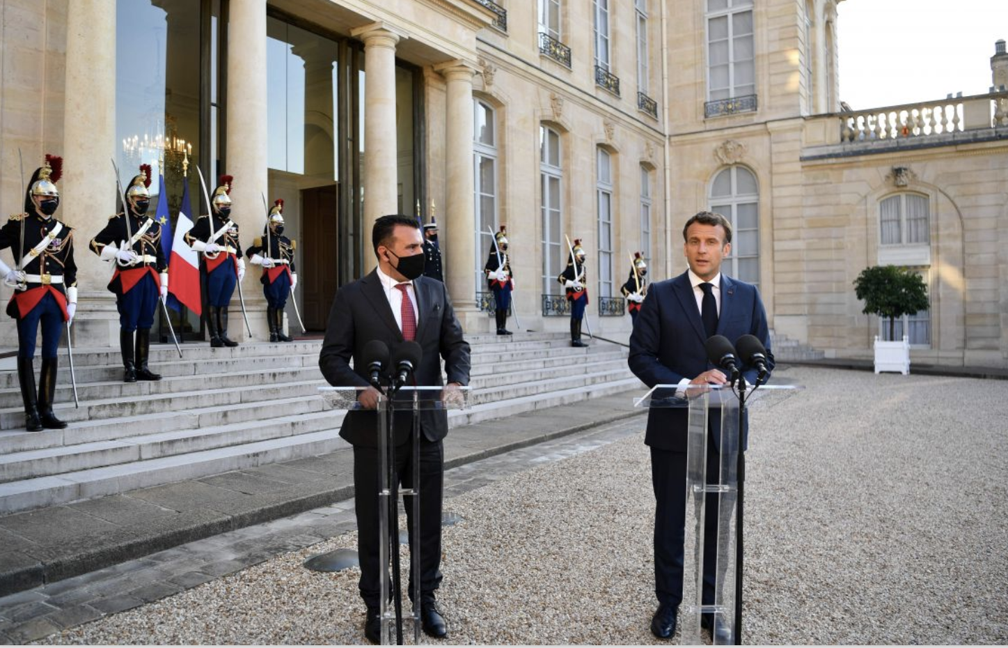 France supports the accession process of North Macedonia, Macron told Zaev