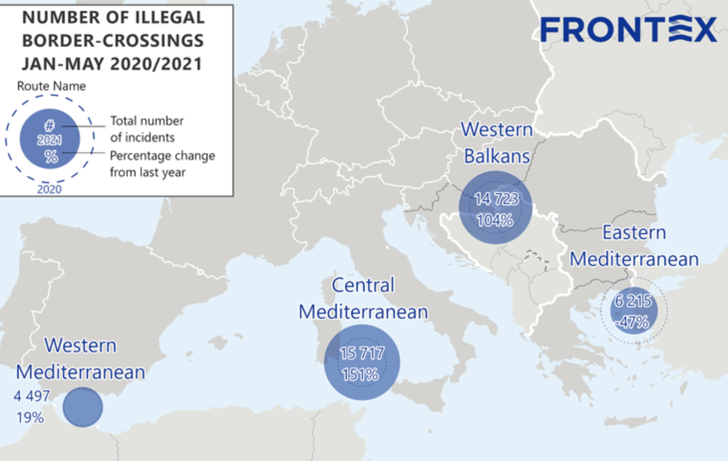 Frontex: Twice as many illegal migrants reported on Balkan Route as last year
