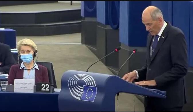 Slovenian PM addressed European Parliament