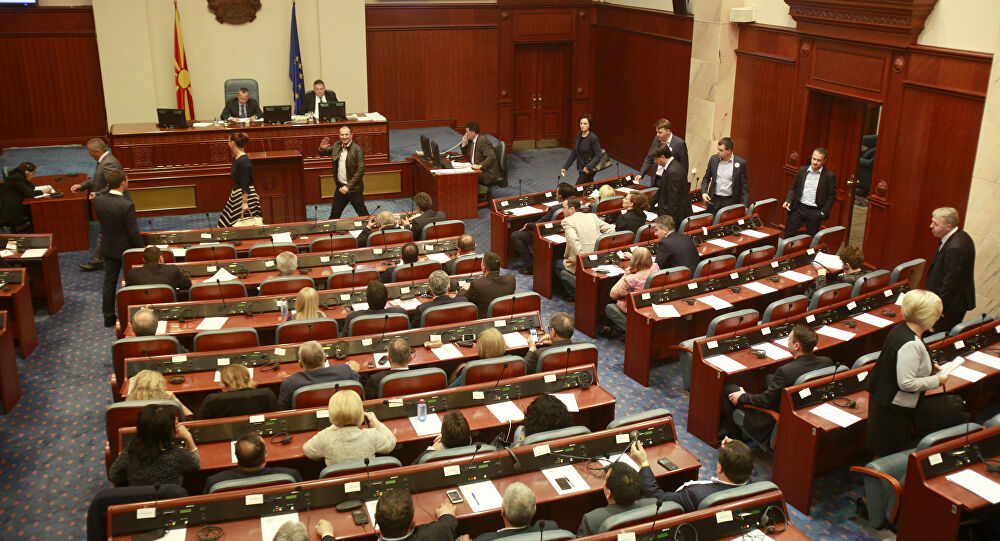 North Macedonia: VMRO-DPMNE resolution supported by SDSM, DOM, LDP and DS, while the Albanian bloc abstains